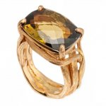 Anello in Oro Rosso con Tormalina<br /><em>Red Gold ring with Tourmaline</em>