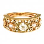 Anello in Oro Rosso con Diamanti taglio antico<br /><em>Red Gold ring with rose cut diamonds</em>